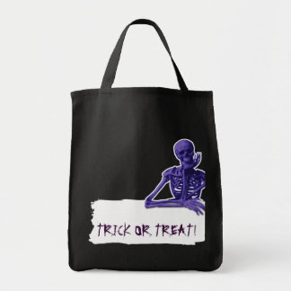 Skeleton Trick or Treat bag with Custom Text