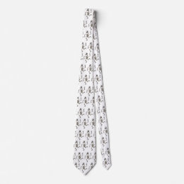 Skeleton Unicorn Dance 2 Neck Tie