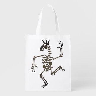 Skeleton Unicorn Dance 2 Reusable Grocery Bags