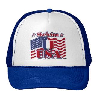 Skeleton USA Trucker Hats