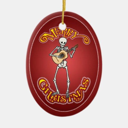Skeleton Vihuela Player Christmas Ornament