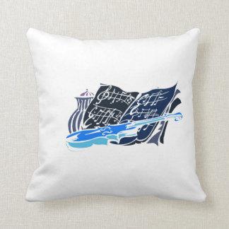 skeleton violin blue music jar still life.png throw pillow