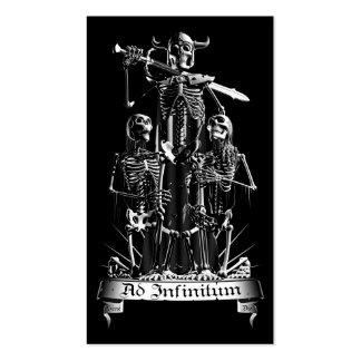 Skeleton Warrior Double-Sided Standard Business Cards (Pack Of 100)