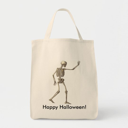 Skeleton Waving Bag