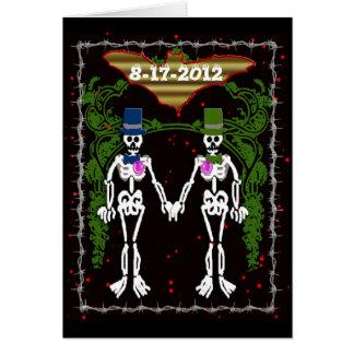 skeleton wedding 2 card