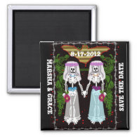skeleton wedding 3 magnet