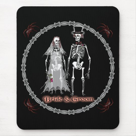 Skeleton Wedding Mouse Pad