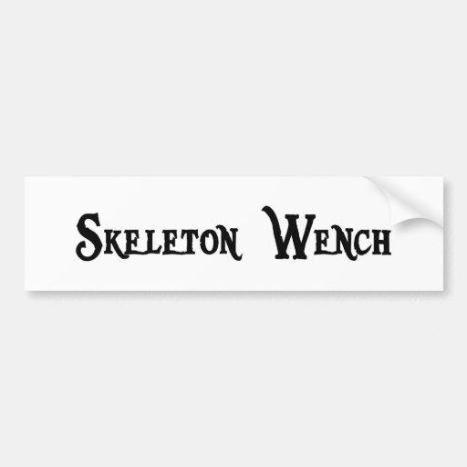 Skeleton Wench Bumper Sticker