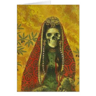 Skeleton Witch Design Card