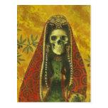 Skeleton Witch Design Post Card