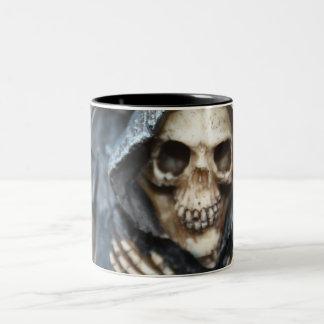 Skeleton With Black Hooded Cape Mug