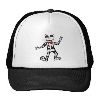 Skeleton with bow tie mesh hats
