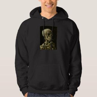 Skeleton with Cigarette 1886 Hoodie for Men