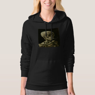 Skeleton with Cigarette 1886 Hoodie for Women