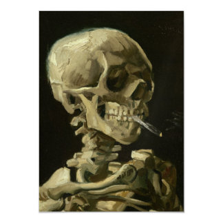 Skeleton with cigarette by Van Gogh Card