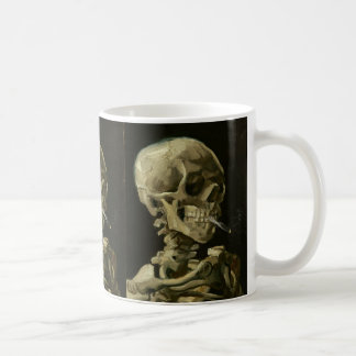 Skeleton with cigarette by Van Gogh Coffee Mug