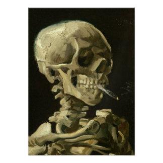 Skeleton with cigarette by Van Gogh Custom Invites