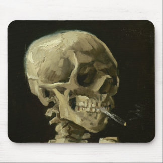 Skeleton with cigarette by Van Gogh Mouse Pad