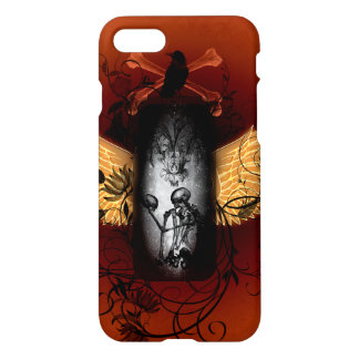 Skeleton with crow iPhone 7 case