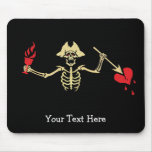 Skeleton with Cup and Broken Heart Mouse Pad