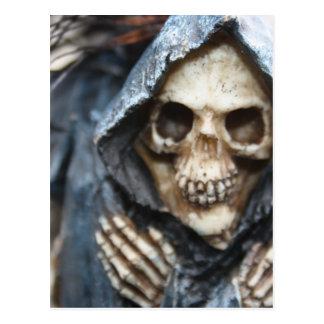 Skeleton with Hood Post Card