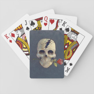 """skeleton with rose design on """"playing cards"""" playing cards"""