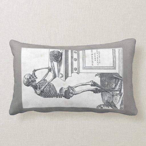 Skeleton With Skull American MoJo Pillow
