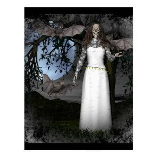 Skeleton Woman Postcard