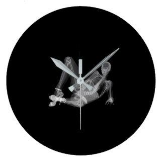 Skeleton woman sexy radiography large clock