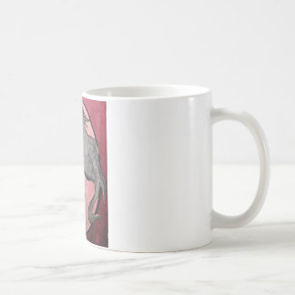 Skeleton Woman with Raven Coffee Mugs