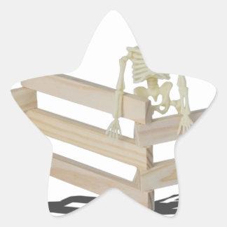 SkeletonAtFence062115 Star Sticker