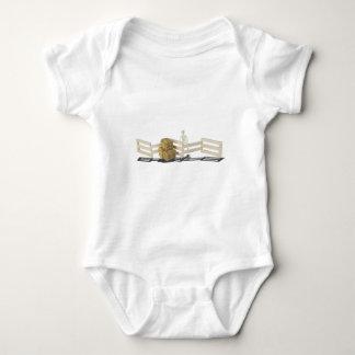 SkeletonBalesOfHayFence062115 Baby Bodysuit