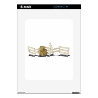 SkeletonBalesOfHayFence062115 Skin Para El iPad