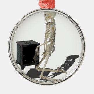 SkeletonClosingSafe032215 Metal Ornament