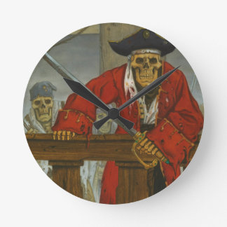 SkeletonCrew.JPG Round Clock
