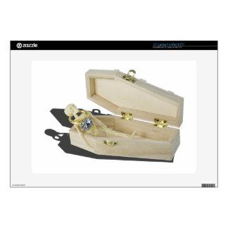 "SkeletonEngagementRingCoffin070515 Decals For 15"" Laptops"