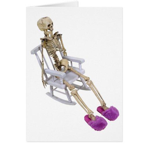 SkeletonFuzzySlippersRocker030310 Tarjeta