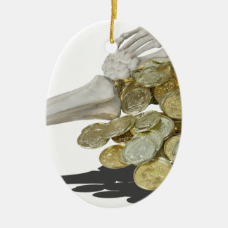 SkeletonHandsGoldCoins081614 copy Ceramic Ornament