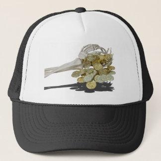 SkeletonHandsGoldCoins081614 copy Trucker Hat