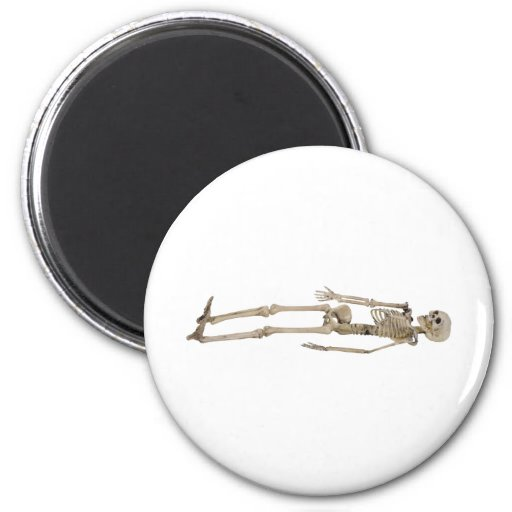 SkeletonLay030310 2 Inch Round Magnet
