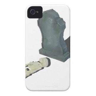 SkeletonLayingFrontHeadstone070315 Case-Mate iPhone 4 Case