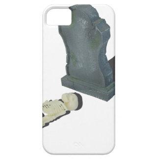 SkeletonLayingFrontHeadstone070315 iPhone SE/5/5s Case