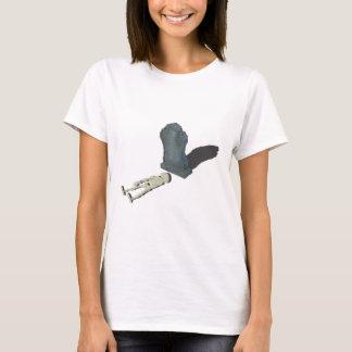 SkeletonLayingFrontHeadstone070315 T-Shirt