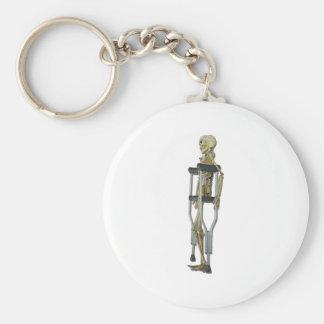 SkeletonOnCrutches100711 Basic Round Button Keychain