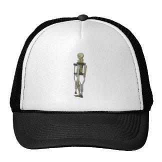 SkeletonOnCrutches100711 Mesh Hat