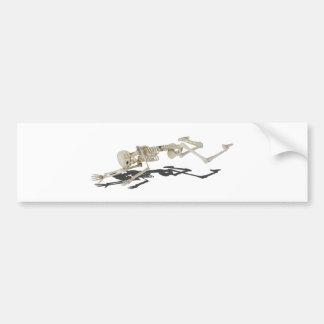 SkeletonProneSideways032215 Bumper Sticker