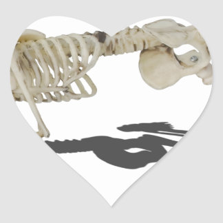 SkeletonProneSideways032215 Heart Sticker