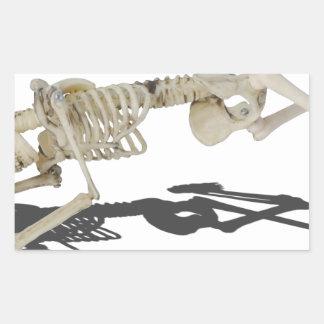 SkeletonProneSideways032215 Rectangular Sticker