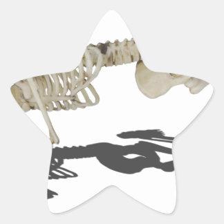 SkeletonProneSideways032215 Star Sticker