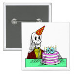Skeletons 50th Birthday Gifts Button